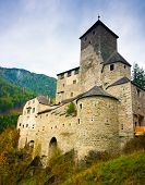 picture of south tyrol  - Tures Castle above Campo Tures Aurina valley South Tyrol Trentino Alto Adige Italy - JPG