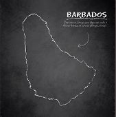 Barbados map blackboard chalkboard vector