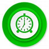alarm icon, alarm clock sign