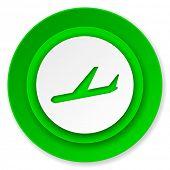 arrivals icon, plane sign