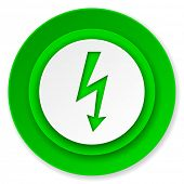 bolt icon, flash sign