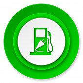 fuel icon, hybrid fuel sign