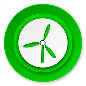 windmill icon, renewable energy sign