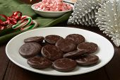 Chocolate Mint Cream Christmas Cookies