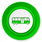 bus icon, public transport sign