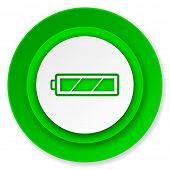battery icon, charging symbol, power sign