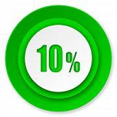 10 percent icon, sale sign