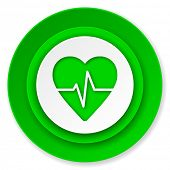 pulse icon, heart rate sign
