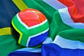 2010 Football And South African Flag