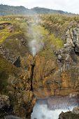 Punakaiki Rocks Blow Hole Erupts, New Zealand