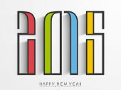 Happy New Year celebration concept with stylish colorful text  2015 on grey background.