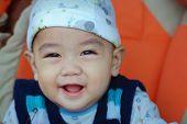 Smiling Asian Baby