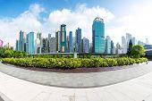 panoramic cityscape and landmark of hongkong