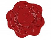 Vector Second Place Red Wax Seal