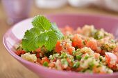 stock photo of chives  - Tabbouleh with quinoa - JPG