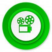 movie icon, cinema sign