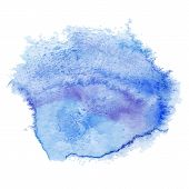 Blue watercolor spot