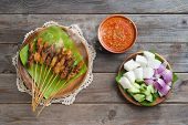 foto of sate  - Hot and spicy Asian dish - JPG
