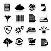 Database icons black