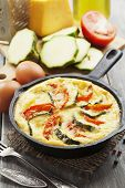 Omelette With Zucchini And Tomatoes
