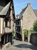 Medieval Street In Dinan