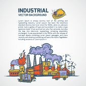 Industrial sketch background