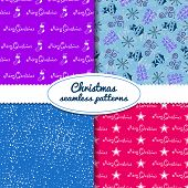 Simple Christmas vector seamless paterns