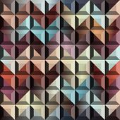 Abstract geometric chevron with relief