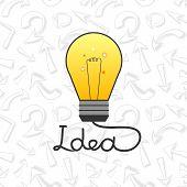 Vector light bulb in flat style element ideas