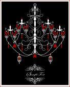 Vintage Invitation Card With Ornate Elegant Abstract Design