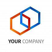 Abstract Hexagons Logo