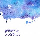 Watercolor vector background, Christmas illustration