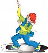 Vector Of Boy Dancing.