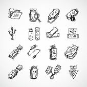 Usb icons set