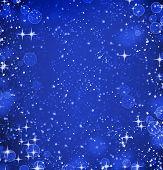 Blue defocused lights background. abstract bokeh lights