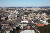 Town view of Vilnius from above