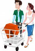 Couple Buying A House, Illustration