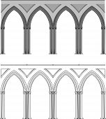 Gothic Arch And Column