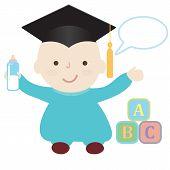 Vector Graduation Baby
