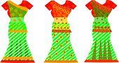Indian Dresses, Illustration