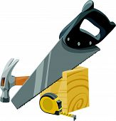 Vector Of Carpentry Tools.