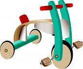 Wooden Toy Tricycle
