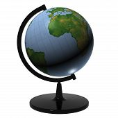 Earth Globe On A Tabletop Pedestal