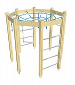 Play Climbing And Crawling Net, 3D Illustration