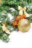 Christmas Ball On New Year Tree