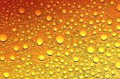 water drops on beer background