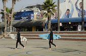 Surfers in Venice Beach, Los Angeles, California