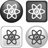 Atom Icon On Buttons Collection