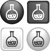 Test Tube Icon On Buttons Collection