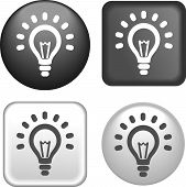 Lightbulb Icon On Buttons Collection